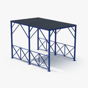 3D model outdoor shelter