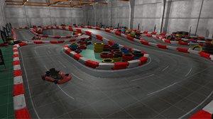 3D model games karting race -