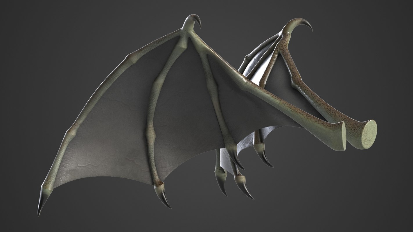 3D Demon Wings Rigged 3