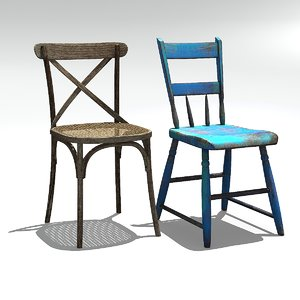 3D model old chairs