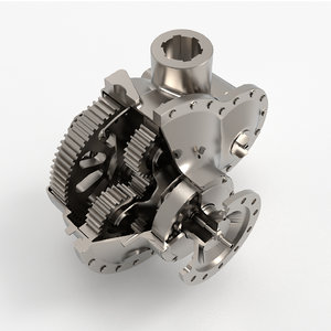 3D gearbox turbine gear