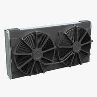 3D car radiator fan