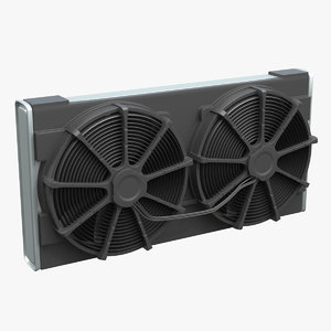 3D car radiator fan