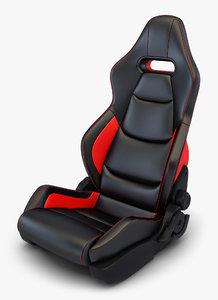 3D car racing seat v model