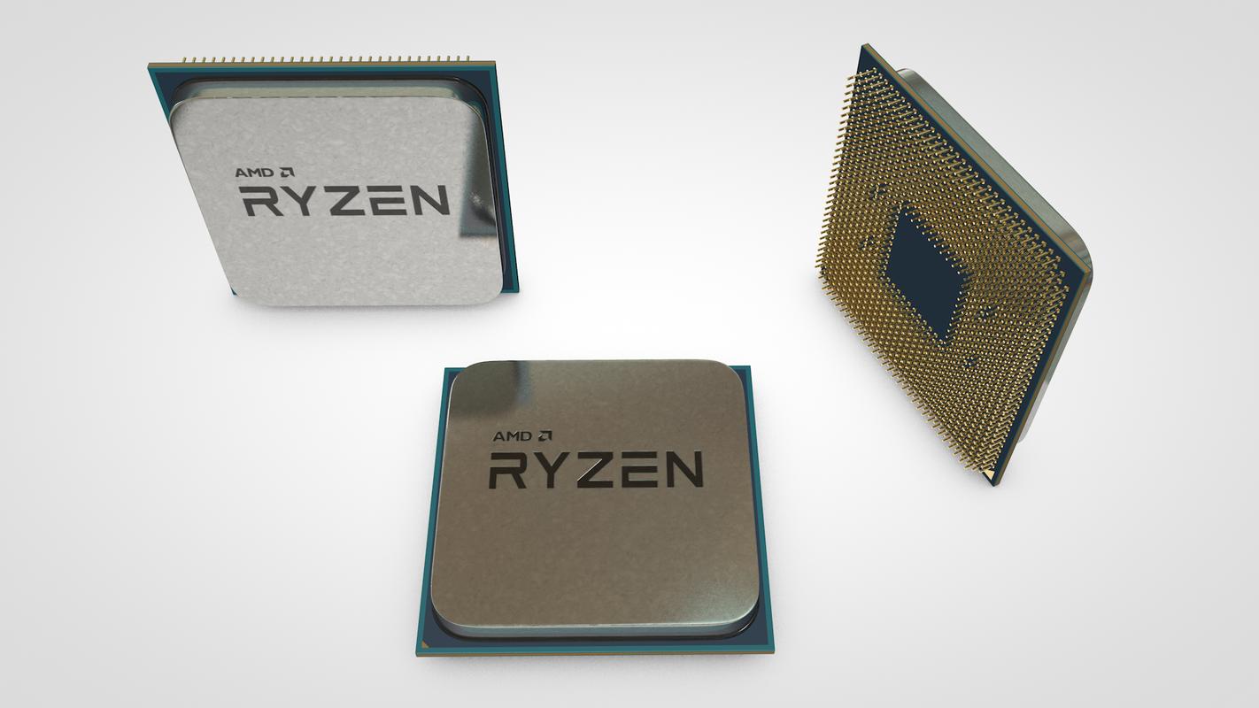 amd ryzen processor 3D model