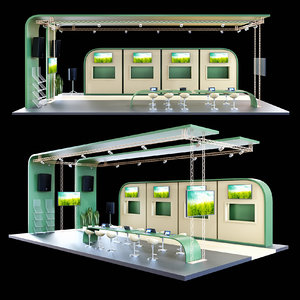 stand exhibition 3D