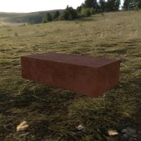 3D brick photorealistic model