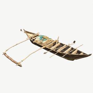 fishing boat india 3D model