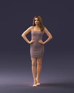 scan woman fashion 3D model