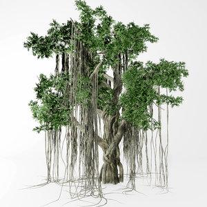 3D banyan tree model