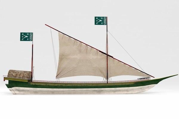 3D ottoman boat model