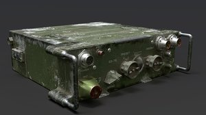 millitary radio 3D model