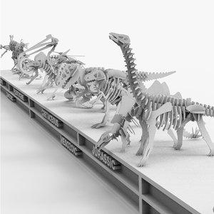 3D model evolution darwin skeleton