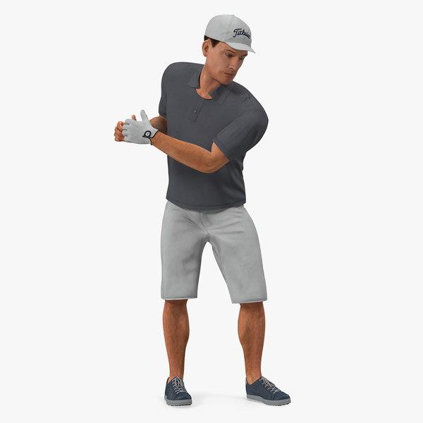 golf player 2 fur 3D