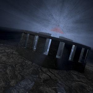 concepts tech ancient temple 3D model