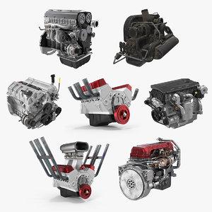 3D car engines