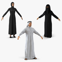 arab people 2 3D model