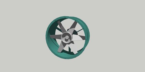 exaust fan 3D model
