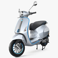 3D vespa elettrica 2019 scooter model