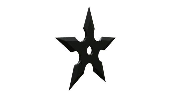 shuriken ninja star 3D model