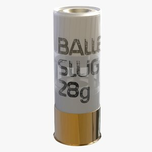 3D speed slug 28g ammunition model