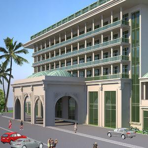 hotel exterior 3D model