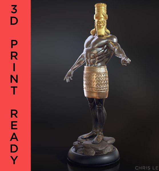 3D daniel 2 statue king