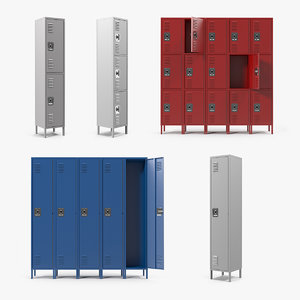 3D model steel lockers