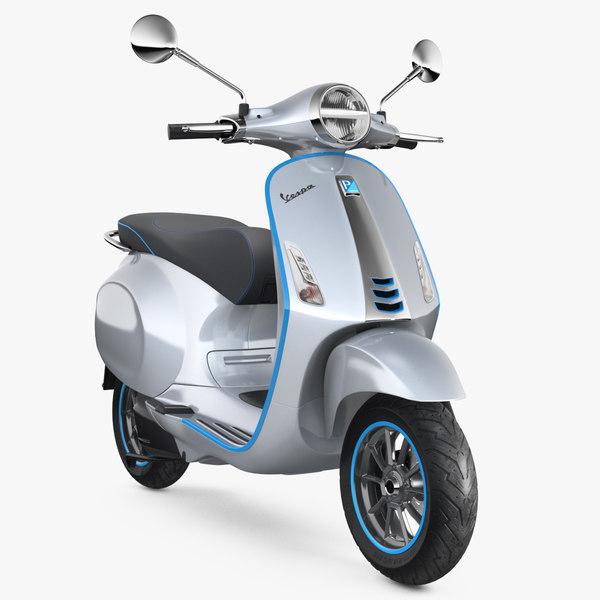 vespa elettrica 2019 scooter 3D model