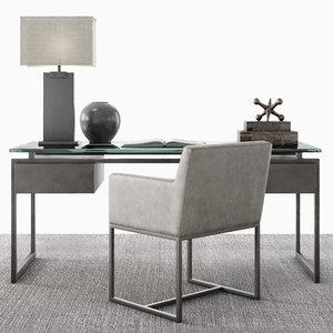 desk set latour 3D model