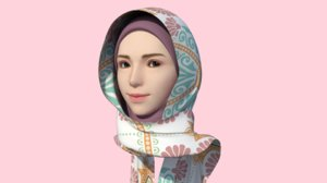 hijab girl 3D model