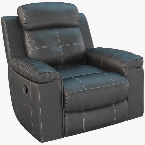 recliner chair ashley jesolo 3D model