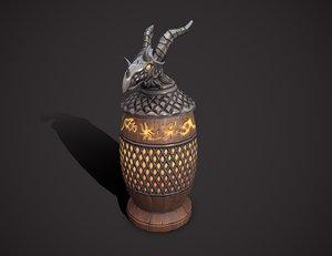 3D dragon urn