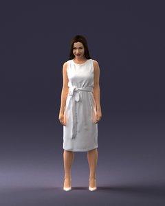 3D scanned woman model