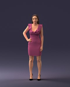 woman dress model