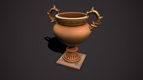 3D flowerpot pot flower