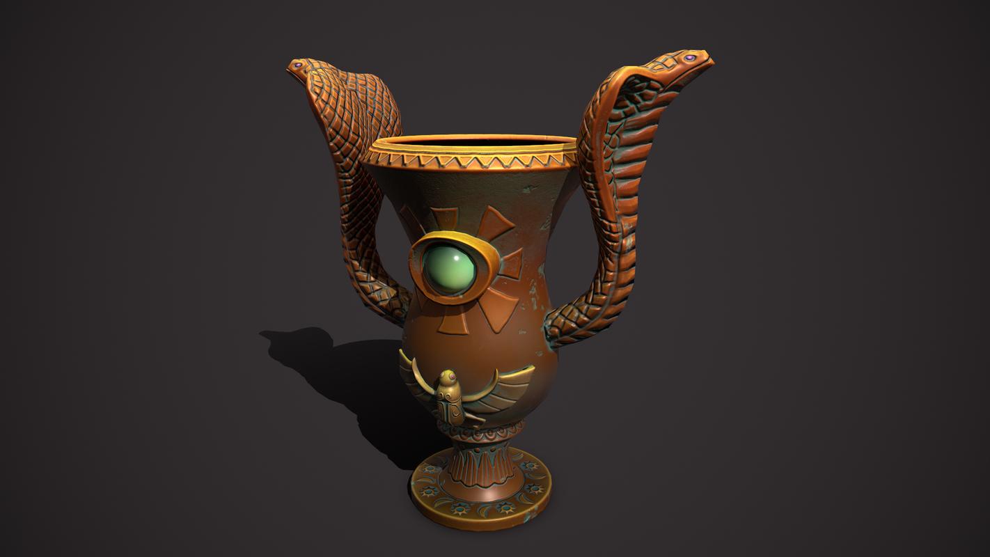 3D model flowerpot pot flower