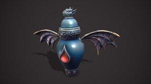 3D model gargoyle urn