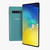 3D model samsung galaxy s10 aquamarine
