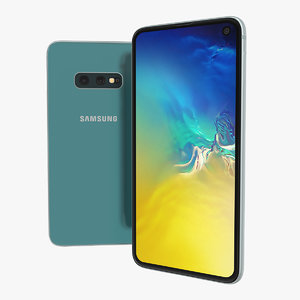 3D samsung galaxy s10e coral model