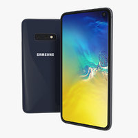 3D samsung galaxy s10e dark blue