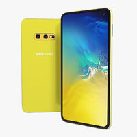 samsung galaxy s10e yellow 3D model