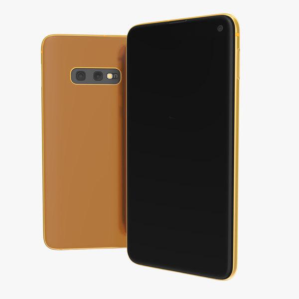 smartphone orange generic mobile phone 3D model