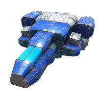 3D space bomber model