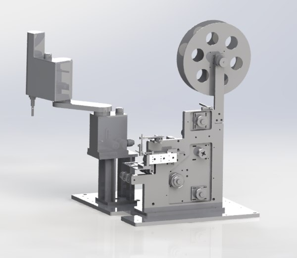 labelling products mechanism 3D model