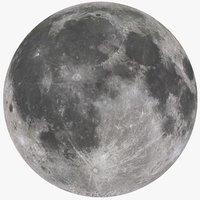earth s moon 3D model