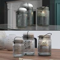 mason jars candle holder 3D model