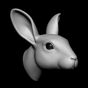 rabbit head base mesh model