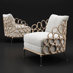ella lounge chair 3D