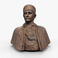 male bust statue 3D model